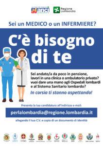 """Emergenza Coronavirus: """"Sei un medico o un infermiere? C'è bisogno di te"""""""