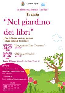 """Biblioteca comunale – invito """"Nel giardino dei libri"""""""